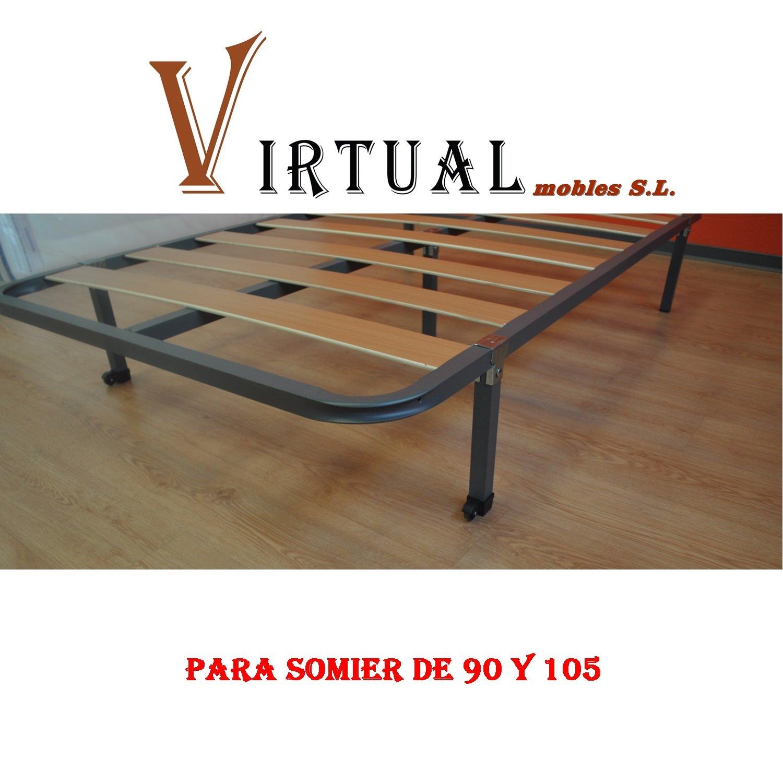 VIRTUALMOBLES SOMIER Basic LÁMINAS DE Madera 90X190 SIN Patas: Amazon.es: Hogar
