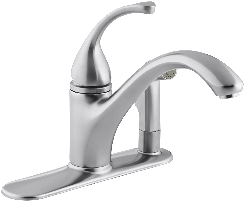 Kohler K 10413 Bn Forte Single Control Kitchen Sink Faucet Vibrant
