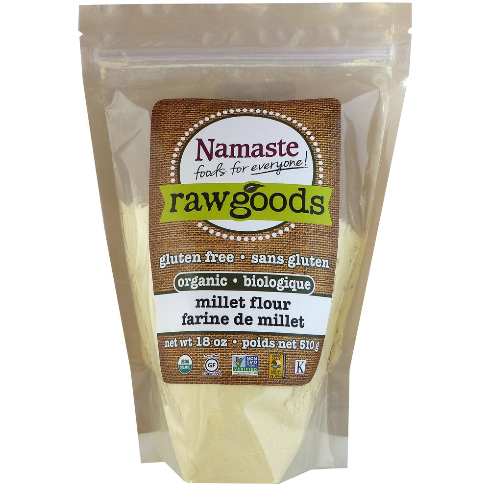 Namaste Foods Organic Millet Flour, 18 Ounce (Pack of 6)