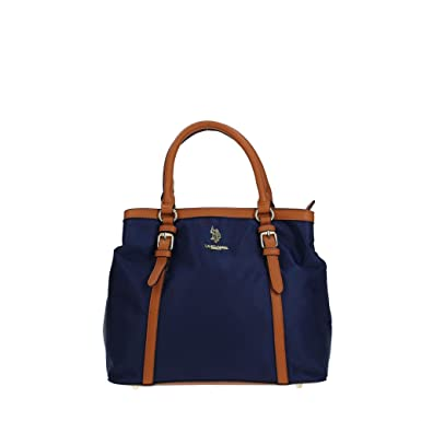 573d9d0a7af1 U.S. Polo Assn. BEUHU0098WI Handbag Women BLUE BROWN TU  Amazon.co ...