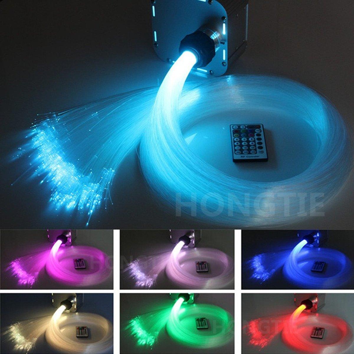HongTie 32W RGB 4 speed Twinkle LED Fiber Optic star ceiling Ceiling Kit Light 800Pcs 0.75mm 4m