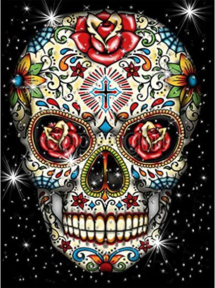 5D Diamond Embroidery Painting Skull Butterfly Cross Stitch DIY Home Decor