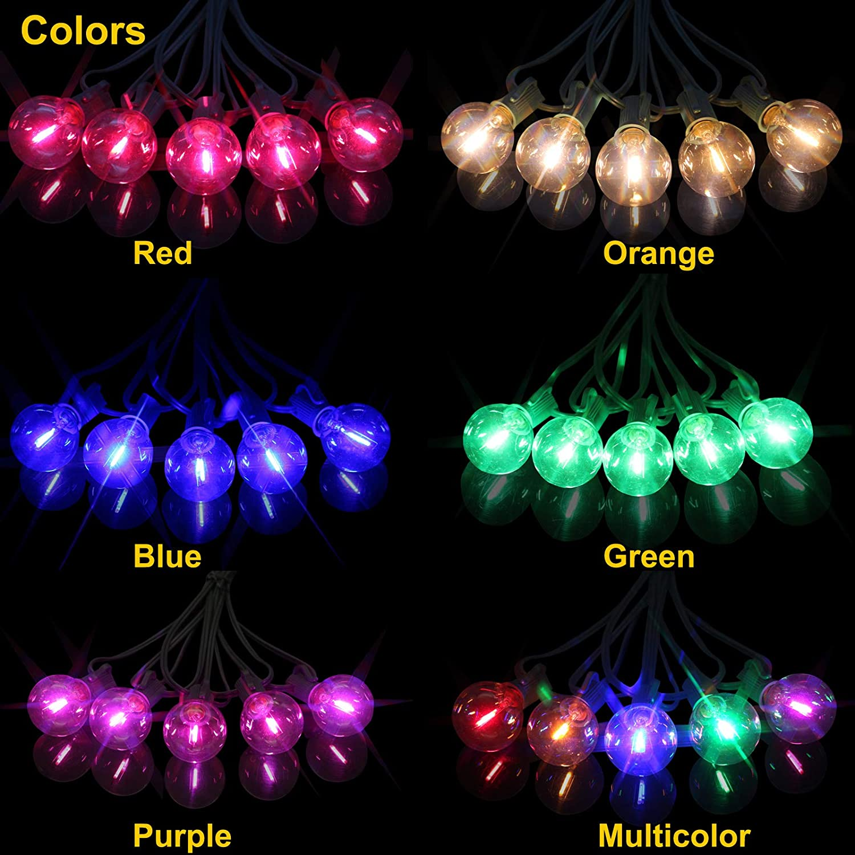 HITECHLIFE G40 Global Solar Light String LED Gl/ühbirne Kronleuchter Deckenleuchte und h/ängende Indoor Outdoor Licht Garten Korridor Dekoration