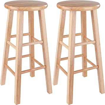 Amazon Com Winsome Pacey Stool 29 Natural Furniture Decor