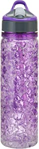 Copco Freezeable Double Wall Insulated Tritan Water Bottle with Crackle Gel, 18-Ounce, Purple