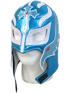 Leos Imports Rey Mysterio Adult Lucha Libre Wrestling Mask (Pro-style) Electric Blue