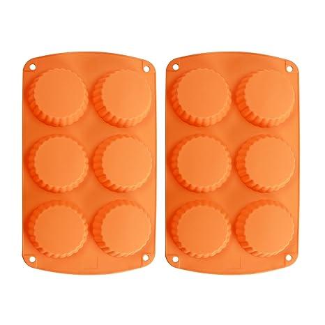 webake 2-Pack silicona para tartas pan Quiche molde para pan de silicona para tartas