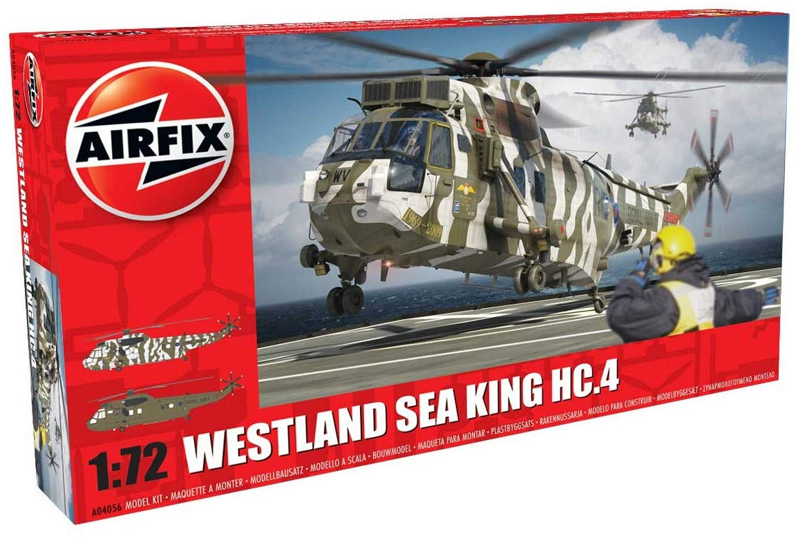 Airfix A04056 Westland Sea King HC.4 1:72nd Military Helicopter Plastic Model Kit