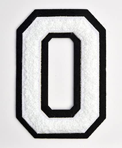 Amazon Com Varsity Letter Patches White Embroidered Chenille