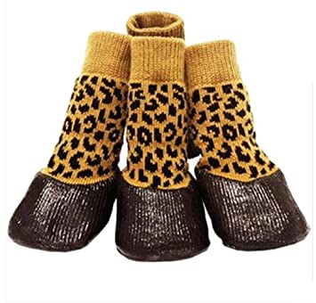 WYXIN Calcetines para perros, calcetines antideslizantes a prueba de agua Reposapiés para peldaños Calcetines para