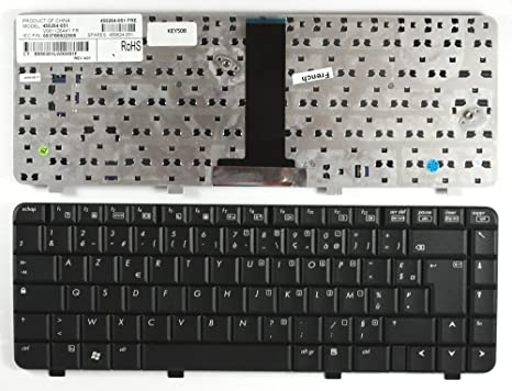 Keyboards4Laptops French Layout Replacement Laptop Keyboard Black for HP Compaq 6520, HP Compaq 6520S,