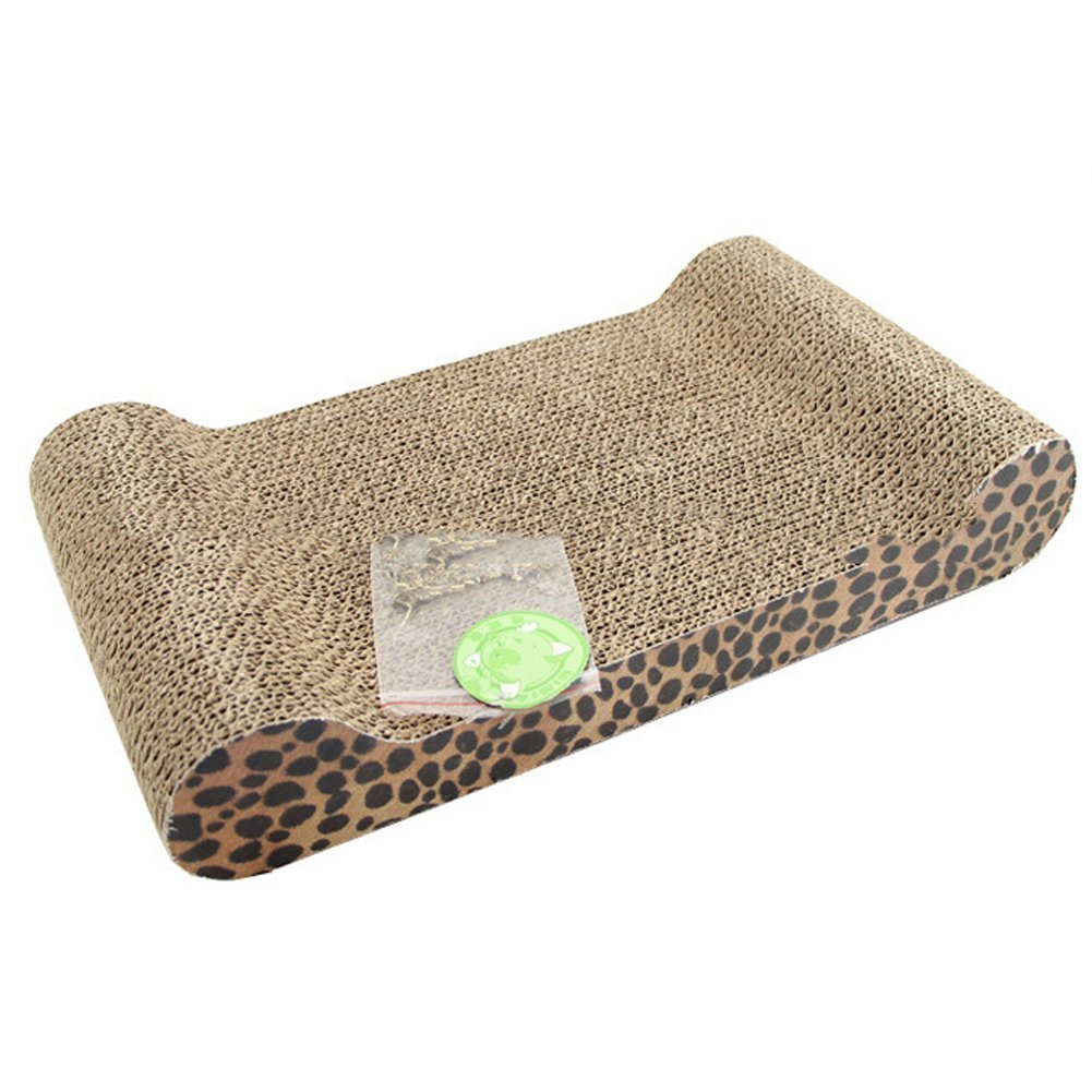 Pet Cat Claw Scratch Pad Lounge Scratcher Board - Cat Play Toy Rest Pad Kitten Bed with Catnip