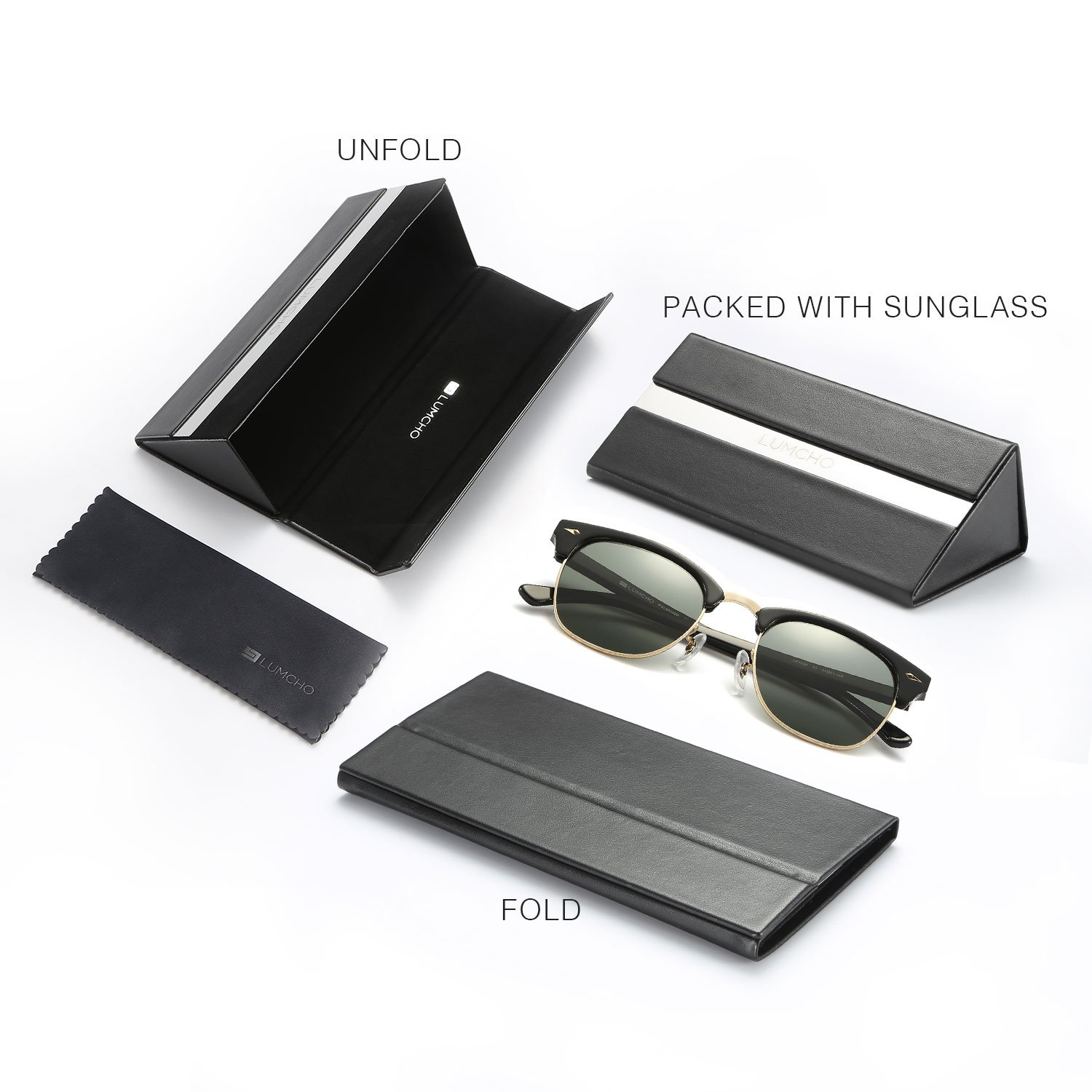 ca8c1ba1c2b Amazon.com  Clubmaster Sunglasses LUMCHO 49MM LC13301S  Clothing