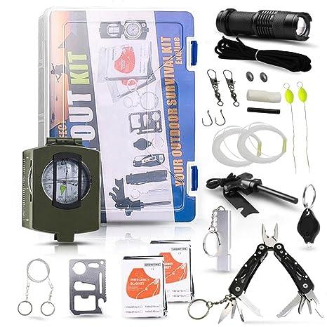 Kit de supervivencia 24 en 1, de Exqline, para exteriores, kit de herramientas