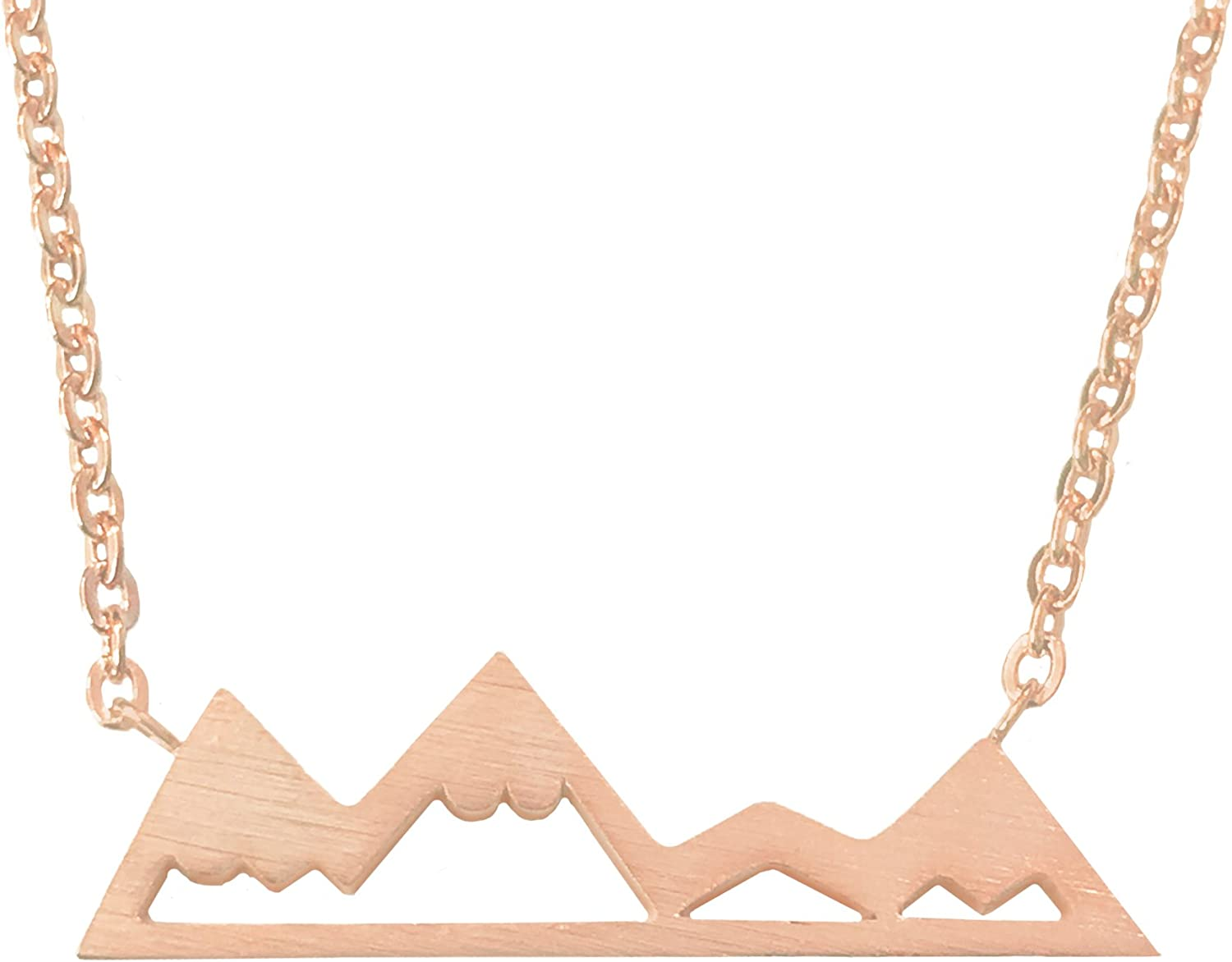 Altitude Boutique Snowy Mountain Necklace for Women Nature Lovers, Skiers, Hikers Campers (Gold, Silver, Rose Gold)