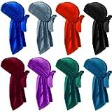 Velvet Durag Durags for Men and Women Waves Unisex Crushed Velvet Waves Durags Cap Long Tail Headwrap Durag Turban Hat…