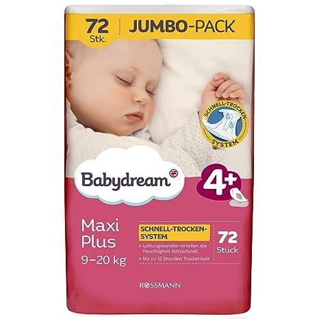 babydream pañales máxima de Plus Jumbo Pack de 72 Unidades) tamaño 4 +, 9