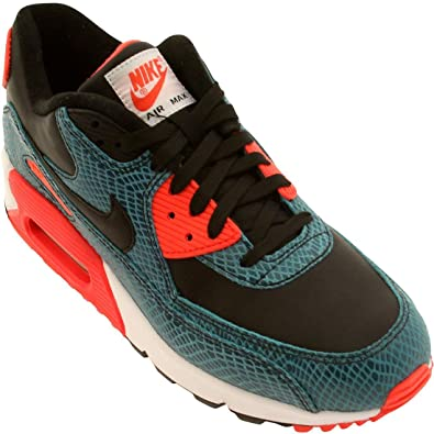 Damen Schuhe Nike Air Max 90 Sneaker Weiß Schwarz dust