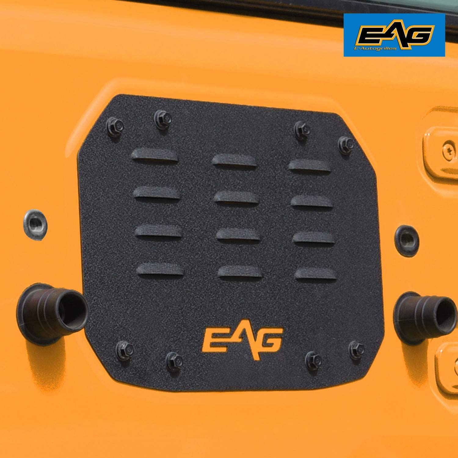 EAG Black Steel Tailgate Vent-Plate Cover Fit for 18-20 Wrangler JL