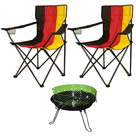 Party Set Mini Barbacoa redonda (verde 2 sillas plegable ...