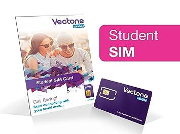 Vectone Mobile Pay as you go estudiante Triple Sim Tarjeta ...