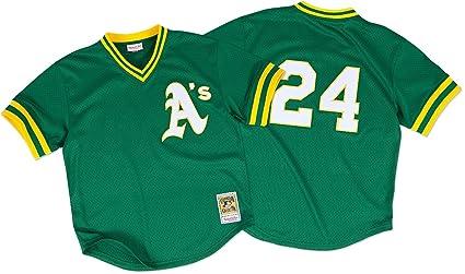 0948ecffc48 Rickey Henderson Oakland Athletics MLB Mitchell   Ness Authentic 1991 BP  Jersey (3XL 56
