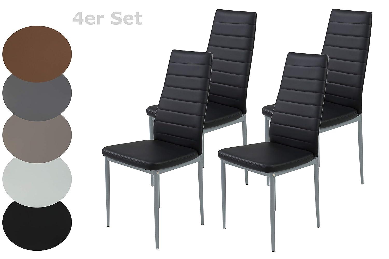 Stuhl Simone 4er Set Esszimmerstuhl Küchenstuhl Cappuccino