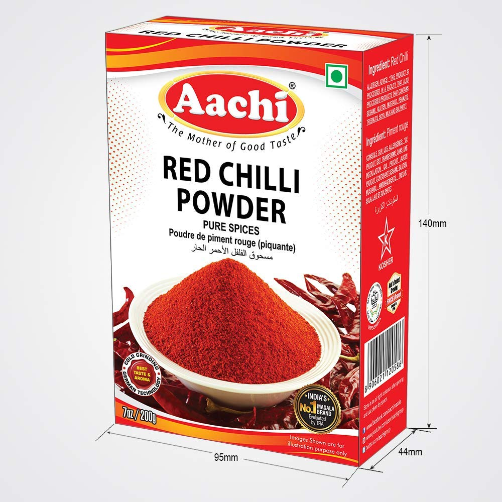 Aachi Chilli Powder 7 Oz., 200g, Indian Spice