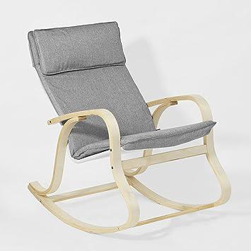 SoBuy FST15 DG Rocking Chair, Fauteuil à Bascule, Fauteuil Berçant, Fauteuil  Relax
