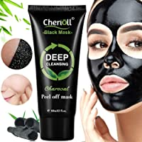 Charcoal Face Mask, Bamboo Charcoal Peel off Mask,Black Peel off Mask,Charcoal Balckhead Remover Mask,Deep Cleasing Facial Mask,Shrinking Pores,Brighten Skin,1 tube 60g