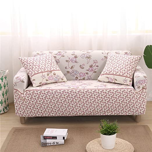 KFHIWUEHPJHD European Elastic slipcover,All Cover Sofa Anti-Slip Floral Printed Sofa Cover Furniture Protector for 1 2 3 4 Cushions Sofa-H Loveseats