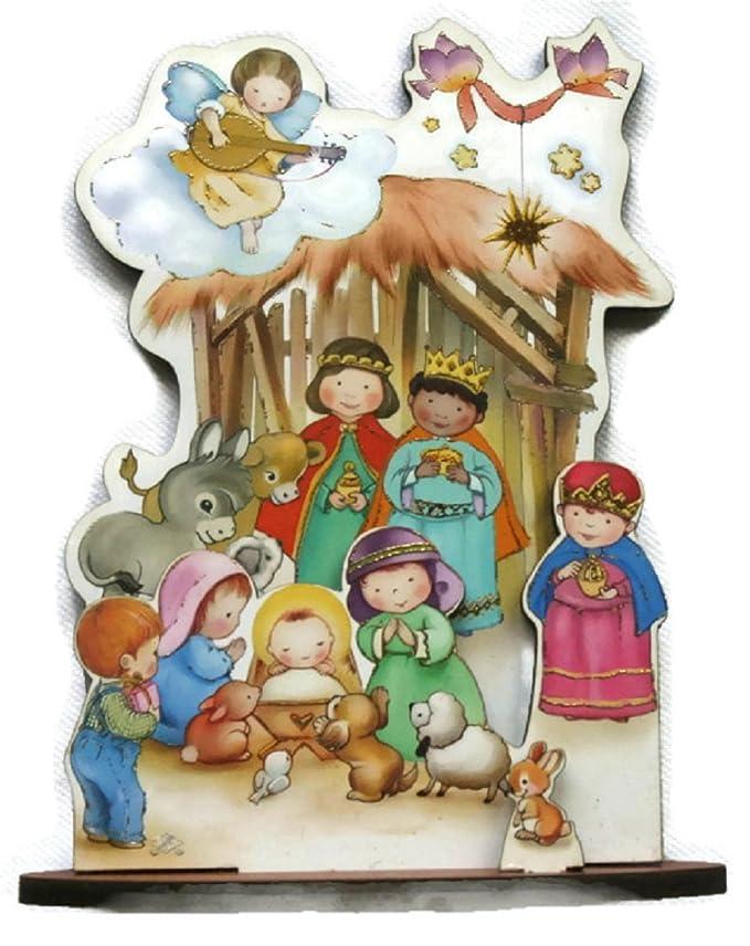 Juego de 4 diferentes escenas de Navidad para niños. Ideal para calcetines de Papá regalo ideal. Por separado en caja.: Amazon.es: Hogar