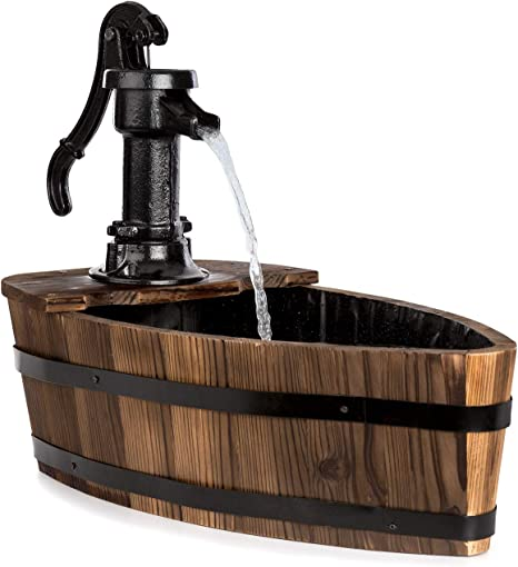 Blumfeldt Starnberg - Fuente de jardín, Fuente de Agua, Potencia 12 W, Circuito Cerrado, Sin Suministro Externo, Aspecto rústico, Resistencia a ...