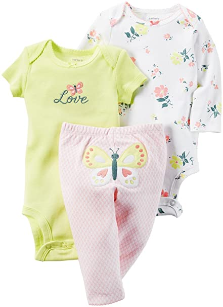 ecaf14869 Amazon.com: Carter's Baby Girls Take Me Away 3-Piece Little Character Set  -12 Months -Butterfly: Clothing