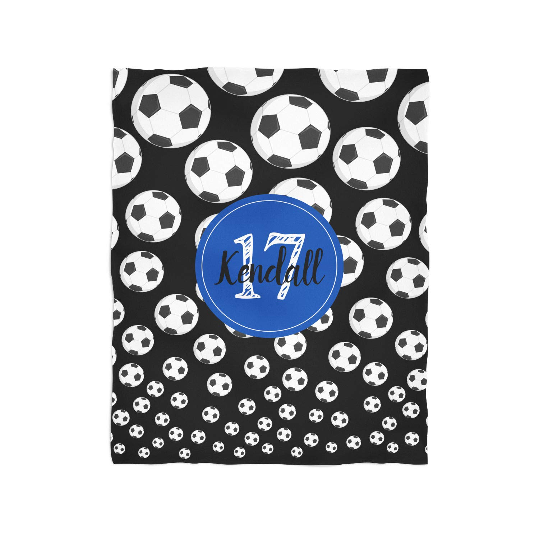 Soccer Splash Personalized Throw Blanket