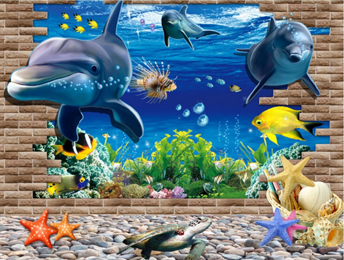 Finding nemo wall stickers gallery home wall decoration ideas artshai fish aquarium 3d wall sticker for kids room amazon artshai fish aquarium 3d wall sticker amipublicfo Choice Image