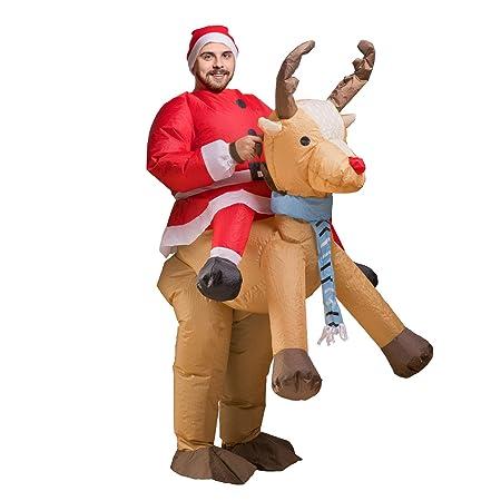 D-Mail - Disfraz Hinchable de Papá Noel: Amazon.es: Hogar