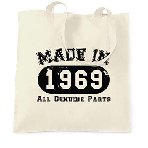 50th Party Cotton Tote Bag Birthday Presents Gifts Year 1969 Shopper Shopping