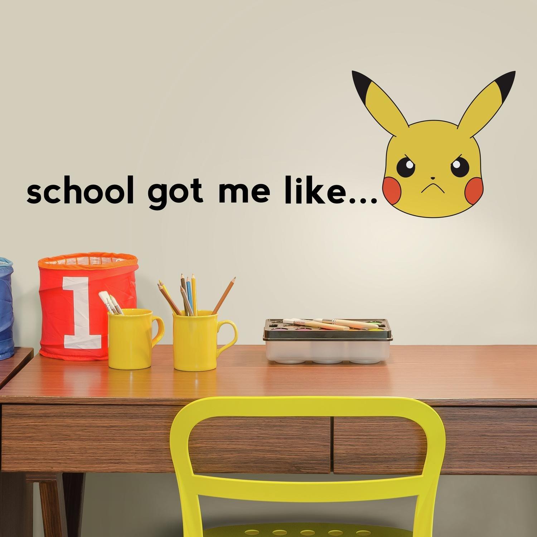 Vinilo Decorativo Pared [75BN1N54] Pokemon Pikachu