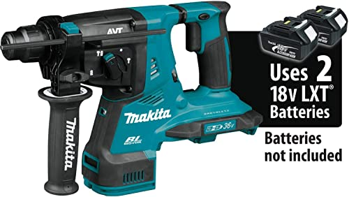 Makita XRH08Z 18V X2 LXT Lithium-Ion 36V Brushless Cordless 1-1 8 AVT Rotary Hammer, accepts SDS-PLUS bits, Tool Only