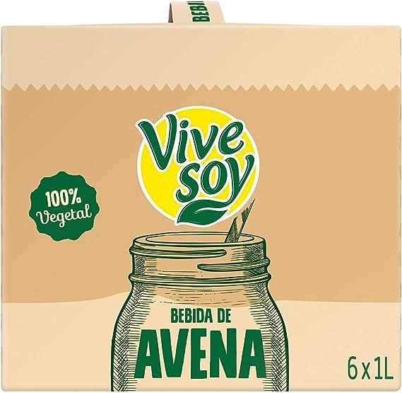 Vivesoy Bebida de Avena - Pack de 6 x 1000 ml - Total: 6000 ml: Amazon.es: Alimentación y bebidas