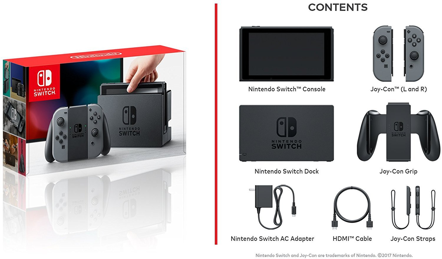 Nintendo Switch console with Grey Joy-Controller: Amazon in