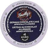 Timothy`s German Chocolate Cake Single Serve Keurig Certified K-Cup pods for Keurig brewers, 24 Count
