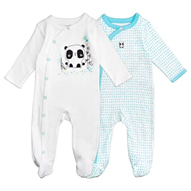 f47da17b7 Amazon.com: Baby Boy or Baby Girl Sleeper Set, 2-Pack Footed Sleep ...