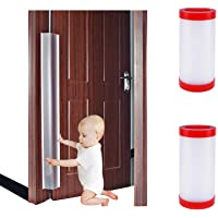 2 PCS Door Jam Shield Finger Pinch Guard for Baby Proofing, Kids, Hinge Cover Pinch Guard for 90 & 180 Degree Doors…