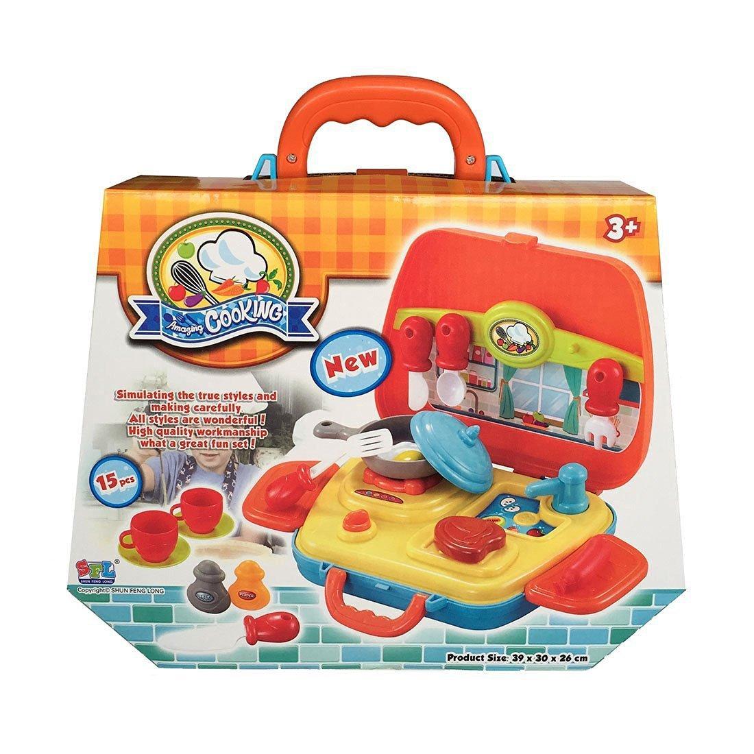 SFL 15 teilig Küchen Spielzeug Set Küche Kochen Spielzeug ...