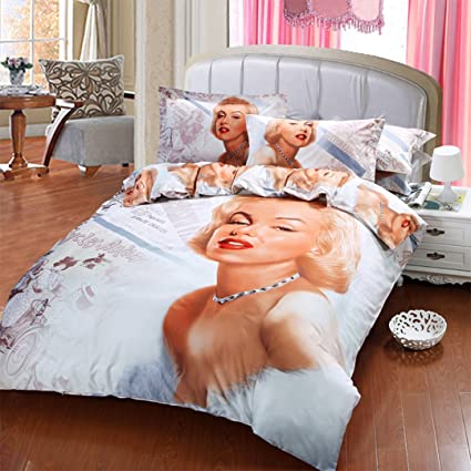 Lenzuola Matrimoniali Marilyn Monroe.Marilyn Monroe Bedding Set Copripiumino Matrimoniale Queen Size