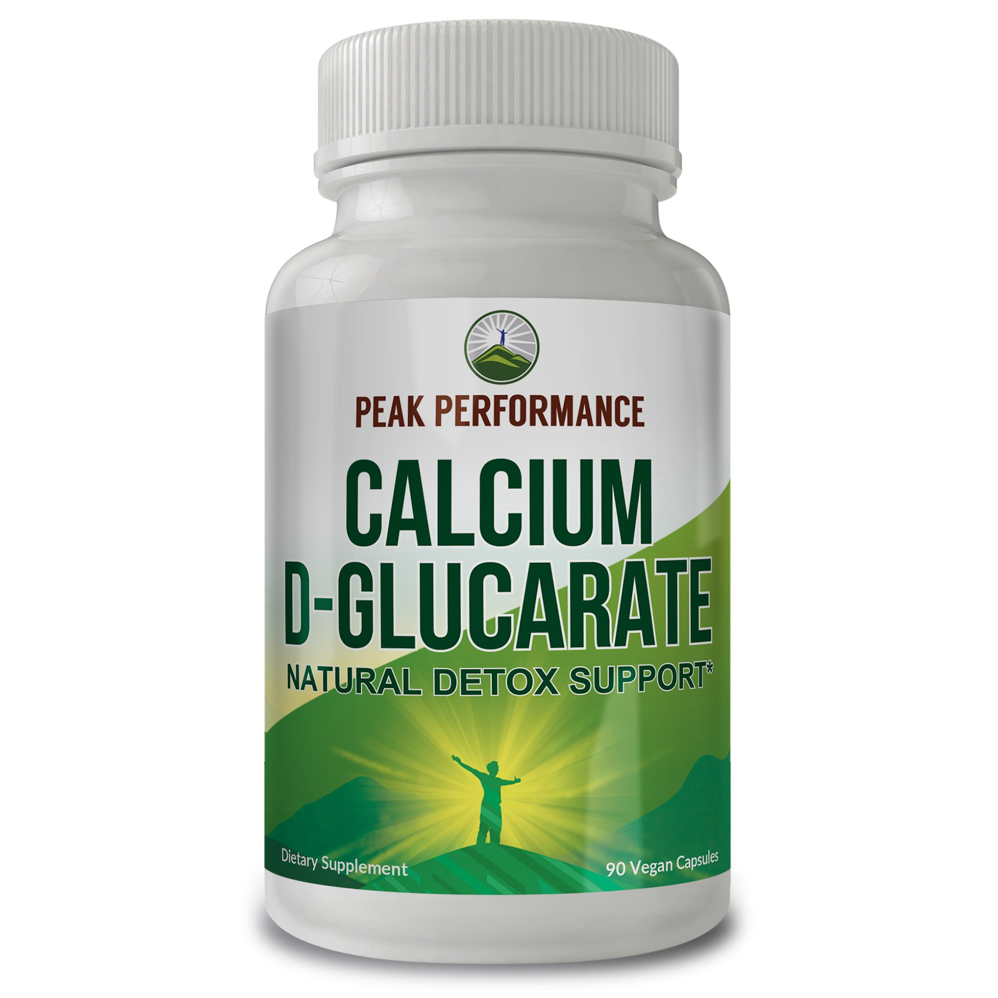 Calcium D-Glucarate Natural Detox Support By Peak Performance. Eliminates Metabolic Waste and Lowers Bad Cholesterol. Support For Improved Metabolism + Promotes Liver, Prostate (1 pack)