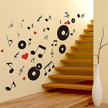 Tapete,Wandtapete,Wand Dekoration,wandsticker,Musik Unterricht  Persönlichkeit Kreative Trend Datensätze Notes