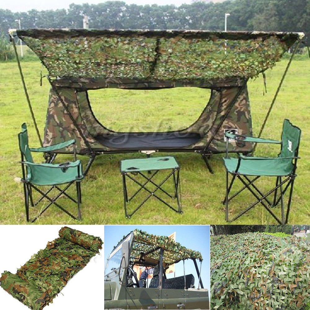 Outdoor Tarnnetz, Miya leichte Mehrzweck-Tarnnetz für Camping Militär Jagd Schießen verstecken Angeln Shelter ausblenden,Tarnung Camo Camouflage Netz 2mx3m, 2mx4m, 3mx3m, 3mx4m, 4mx5m, 6mx6m. Miya System Ltd